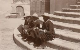 CAGLIARI-COSTUMI DEL SULCIS- CARTOLINA VERA FOTOGRAFIA-ANNO 1930-1940-II SERIE - Cagliari
