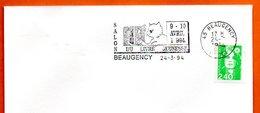 45 BEAUGENCY LIVRE JEUNESSE 1994 Lettre Entière N° NO 324 - Maschinenstempel (Werbestempel)