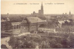 CPA - STRASBOURG - VUE GENERALE - LE THEATRE - LA CATHEDRALE - Strasbourg