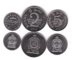 Sri Lanka - Set 3 Coins 1 2 5 Rupees 2016 UNC Lemberg-Zp - Sri Lanka