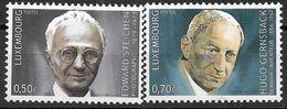 2004  Luxemburg Mi. 1626-7**MNH    Geburtstage Bedeutender Persönlichkeiten. - Luxemburg