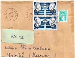 HERAULT - Dépt N° 34 = AIGNE 1980 =  CACHET A9 + PA N° 46 DAURAT + VANIER X 2 - Poste Aérienne