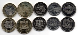 Syria - Set 5 Coins 1 2 5 10 25 Pounds 1993 - 2003 UNC Lemberg-Zp - Siria
