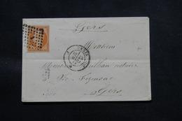 FRANCE - Enveloppe De Paris Pour Vic Fesensac En 1861, Affranchissement Napoléon 40ct, Losange J - L 57946 - 1849-1876: Klassieke Periode