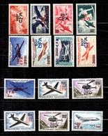 Réunion/CFA Poste Aérienne YT N° 45/48 Et N° 52/60 Neufs ** MNH. TB. A Saisir! - Réunion (1852-1975)