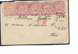 SH 0449. N° Mi 3-4(4) ZIEBINGEN 18.5.68 S/petite Enveloppe Vers PARIS - P.D. En Rouge. Jolie Pièce - Conf. De L' All. Du Nord