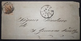 ANNULLI PIEMONTE: NUMERALE VERCELLI Novara - 1861-78 Vittorio Emanuele II