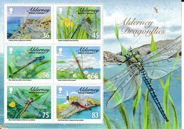 (1572) Timbres  Bloc Thème Insectes Libélulles Alderney Neuf MNH - Other