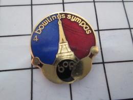 1016c Pin's Pins / Beau Et Rare / THEME : BOWLING / BOP PARIS 4 BOWLINGS SYMPAS - Bowling