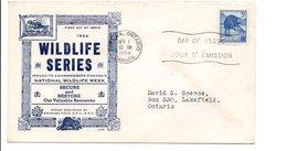 CANADA FDC 1954 VIE SAUVAGE - LE CASTOR - 1952-1960