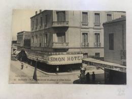 CPA MAROC - OUDJDA - 51 - Rue Du Maréchal Bugeaud Et Hotel Simon - Autres