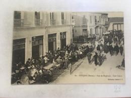 CPA MAROC - OUDJDA - 60 - Rue De Maghrnia, Café Simon - Autres