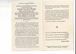 DP 10715 - EERWAARDE JEROOM VAN DE WAGHE - LEDEGEM 1874 + WEVELGEM 1961 - PASTOOR POPERINGE - ROESELARE - KACHTEM - Devotion Images