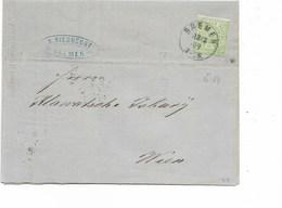 SH 0451. N° Mi 14 BREMEN 13.3.69 S/IMPRIME Vers VIENNE (voir Intérieur) - Conf. De L' All. Du Nord
