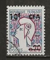REUNION CFA: Obl., N° YT 349Aa, TB - Reunion Island (1852-1975)