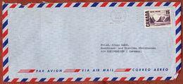Luftpost, Bylot Island, Montreal Nach Rheinhausen 1969 (93105) - Lettres & Documents