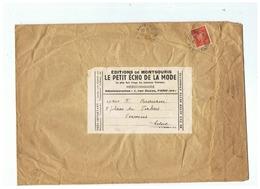 VARIETE TIMBRE PETAIN N° 511a   PARIS Pour VERVINS (AISNE) 1942 - Marcophilie (Lettres)