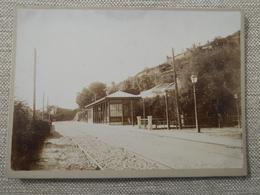 Foto Albumina Cartonata , Primi '900 Stazione Ferroviaria Istria - Trenes