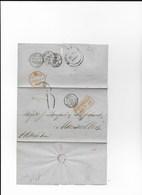 Lettre De RIO De JANEIRO Pour Marseilles Du 14-10-1856 - Nombreux Cachets à Voir - 1849-1876: Période Classique