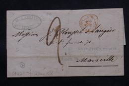 FRANCE / ALGÉRIE - Lettre De Alger Pour Marseille En 1844 , Voir Cachets - L 57968 - 1801-1848: Precursors XIX
