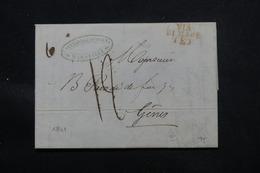 FRANCE - Lettre De Marseille Pour L 'Italie En 1841 , Voir Cachets - L 57970 - 1801-1848: Precursors XIX