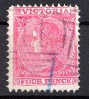 VICTORIA - (Colonie Britannique) - 1867-78 - N° 58a - 4 P. Rose Vif - (Victoria) - Mint Stamps