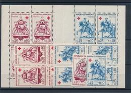 N-778: FRANCE: Lot Croix Rouge  1960** : Feuille Du Carnet+ 2 Blocs De 4+ 2 Obl) - France