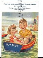 """Deux Enfants Dans Une Barque:"""" Nous Vous Ferons Bien Une Petite Place..."""". Signée Taylor. - Taylor"""