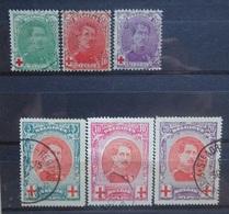 BELGIE  1914   Nr. 129 - 131  /  132 - 134     Gestempeld   CW  56,00 - 1914-1915 Rode Kruis