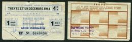 MONNAIE MATIERE DE 1 KILO ACIER ORDINAIRE 31 DECEMBRE 1944-CACHET AU REVERS HOTEL CARLTON ET ETS MAXIME FIOUPOU CANNES - Buoni & Necessità
