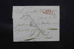 FRANCE - Lettre En PP De Toulon Pour Paris En 1806, à étudier - L 57975 - 1801-1848: Precursors XIX