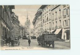 BERNE Ou BERN - Marktgasse - Superbe Plan Animé  - 2 Scans - BE Berne