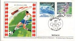 MONACO FDC 1992 J O ALBERTVILLE ET BARCELONE - FDC