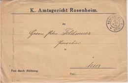 Bayern - Rosenheim 1915 Frei Durch Ablösung Amtsgerich Ortsbrief  - Bavière