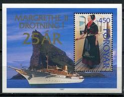 Denmark Faroe Islands Mi# Block 9 Postfrisch/MNH - Queen Margrethe - Faeroër