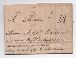 1737 - LETTRE De CADIX Pour MARSEILLE - España