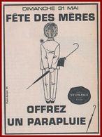 Pour La Fête Des Mères, Offrez Un Parapluie Nylfrance. 1964. - Publicités