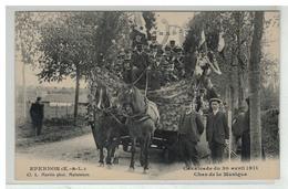 28 EPERNON CAVALCADE DU 30 AVRIL 1911 CHAR DE LA MUSIQUE - Epernon