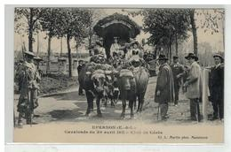 28 EPERNON CAVALCADE DU 30 AVRIL 1911 CHAR DE CERES - Epernon