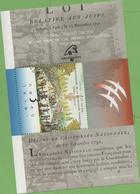 Israel Souvenir Sheet French Revolution 1989 With Cancelation YERUSHALAYIM 7/7/1989 - Israel