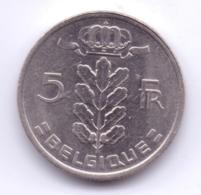 BELGIQUE 1988: 5 Francs, KM 134 - 05. 5 Francs