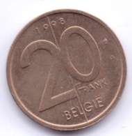 BELGIE 1998: 20 Fr., KM 192 - 04. 20 Francs
