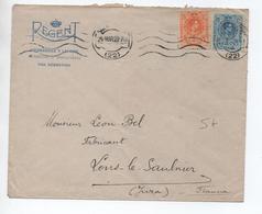 1923 - ENVELOPPE COMMERCIALE De SAN SEBASTIAN Pour LONS LE SAUNIER (JURA) - Cartas