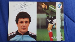CPSM SPORT FOOTBALL JOUEUR DROPSY DOMINIQUE ADIDAS FF 1980 SIGNATURE IMPRIMEE - Soccer
