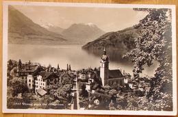 """Schweiz Suisse 1927: Bild-PK / CPI """"Vitznau Gegen Das Stanserhorn"""" Mit O RIGI-KALTBAD 29.VIII.27 Nach Basel - LU Luzern"""