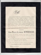 Alsemberg 20 Avril 1892 Overlijden Jean-Marie- Alphonse Winderickx - Obituary Notices