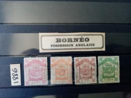 BORNEO.1886. N°18.19.20.22.  4 ARMOIRIES  ( 3 Neuves 1 Oblitérée ) Côte YT 2020  : 26,00 €. - Borneo Septentrional (...-1963)