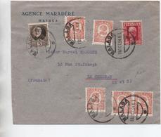 1934 - ENVELOPPE De MALAGA Pour LE CHESNAY - Cartas