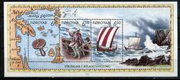 Denmark Faroe Islands Mi# Block 12 Postfrisch/MNH - Viking Ships - Faeroër
