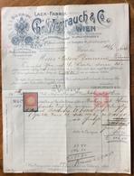 AUSTRIA - LACK FABRIK CHR.WEYRAUCH & C.  FONTANA DELLA GIOVINEZZA - FATTURA CON MARCA DA BOLLO DEL 19/2/1906 - Autriche